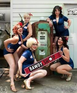 The ladies of Bawdy Shop Burlesque.